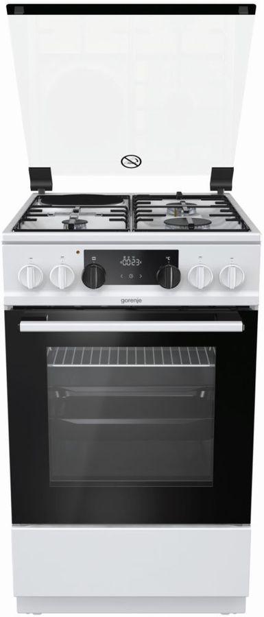 Газовая плита GORENJE K5341WD,  электрическая духовка,  белый