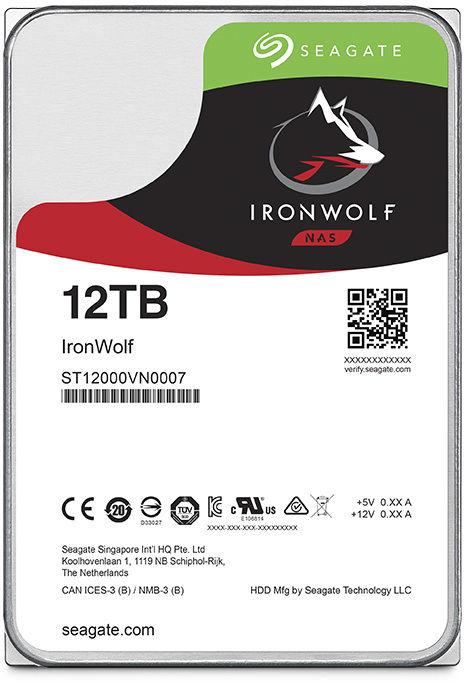 "Жесткий диск SEAGATE Ironwolf ST12000VN0007,  12Тб,  HDD,  SATA III,  3.5"""