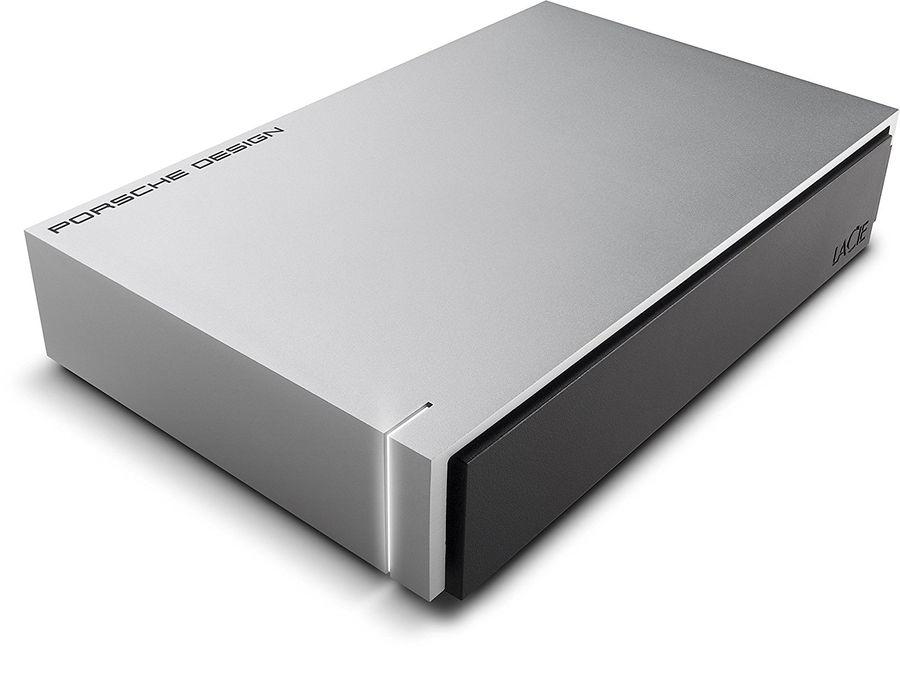 Внешний жесткий диск LACIE Porsche Design Desktop STEW4000400, 4Тб, серебристый