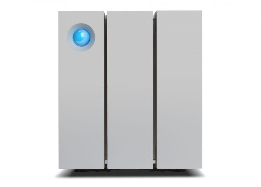 Внешний жесткий диск LACIE 2big STEY8000401, 8Тб, серебристый