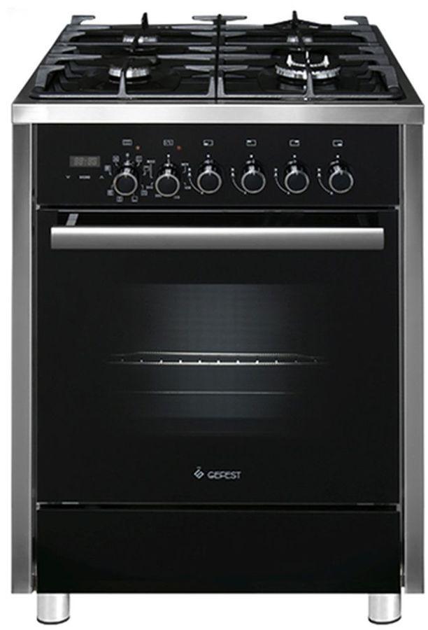 Газовая плита GEFEST ПГЭ 6702-04,  электрическая духовка,  черный