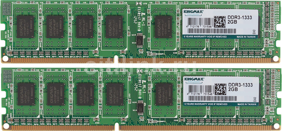 Модуль памяти KINGMAX DDR3 -  2x 2Гб 1333, DIMM,  Ret