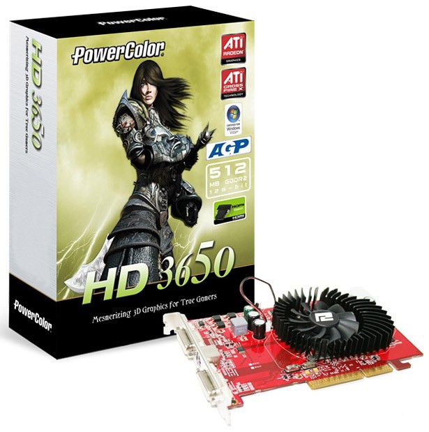 Видеокарта POWERCOLOR Radeon HD 3650,  512Мб, DDR2, oem [ag3650 512md2]