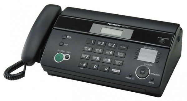 Факс PANASONIC KX-FT982RU-B, на термобумаге, черный