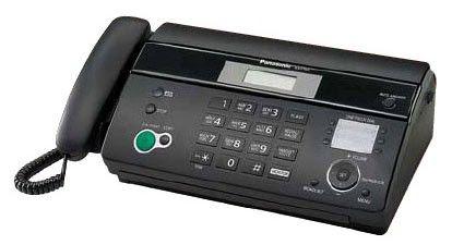 Факс PANASONIC KX-FT984RU-B,  на термобумаге,  черный