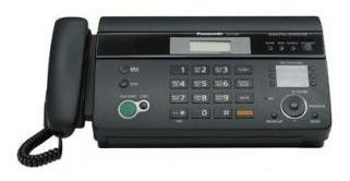Факс PANASONIC KX-FT988RU-B, на термобумаге, черный
