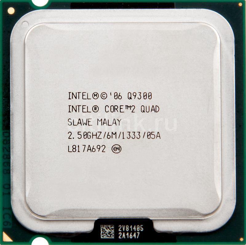 Процессор INTEL Core 2 Quad Q9300, LGA 775 OEM [eu80580pj0606m]