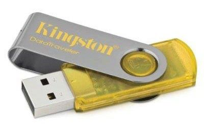 Флешка USB KINGSTON DataTraveler 101 2Гб, USB2.0, желтый [dt101y/2gb]