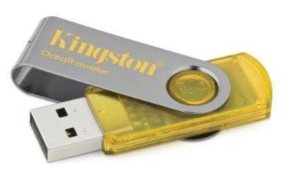 Флешка USB KINGSTON DataTraveler 101 4Гб, USB2.0, желтый [dt101y/4gb]
