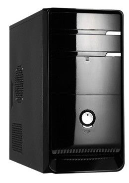 Корпус mATX LINKWORLD 727-01, 350Вт,  черный