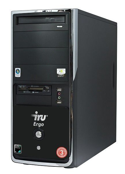 IRU Ergo Home 114,  AMD  Athlon 64 X2  5600+,  DDR2 2Гб, 320Гб,  nVIDIA GeForce 9600 GT - 512 Мб,  DVD-RW,  CR,  Windows Vista Home Basic,  черный и серебристый