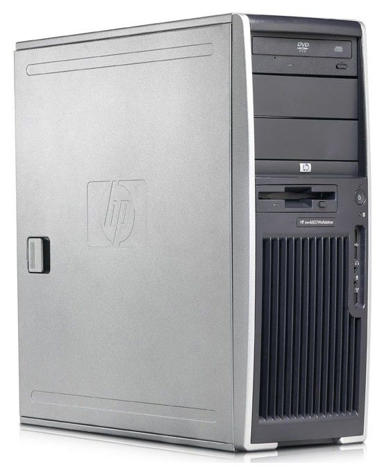 HP xw4600,  Intel  Core2 Duo  E7200,  DDR2 1Гб, 160Гб,  DVD-RW,  Windows Vista Business,  серый и черный [pw471ea]