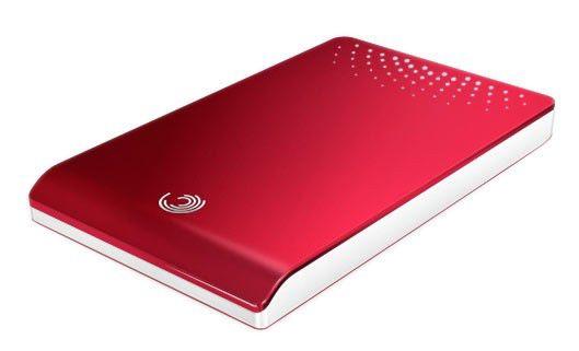 Внешний жесткий диск SEAGATE FreeAgent Go ST903203FDD2E1-RK, 320Гб, красный