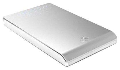 Внешний жесткий диск SEAGATE FreeAgent Go ST903203FGD2E1-RK, 320Гб, серебристый