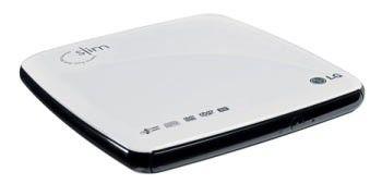 Оптический привод DVD-RW LG GP08NU10, внешний, USB, белый,  Ret [gp08nu10.awrr1lb]