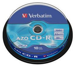 Оптический диск CD-R VERBATIM 700Мб 52x, 10шт., cake box [43429] cd диск fleetwood mac rumours 2 cd