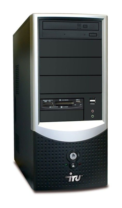 IRU Intro Home 123,  Intel  Pentium Dual-Core  E5200,  DDR2 1Гб, 250Гб,  nVIDIA GeForce 9400 GT - 512 Мб,  DVD-RW,  CR,  Windows Vista Starter,  черный