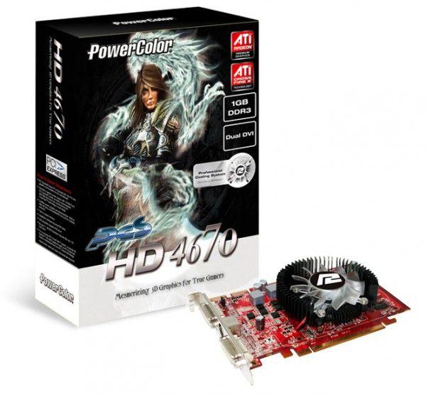 Видеокарта POWERCOLOR Radeon HD 4670,  1Гб, DDR3, Ret [ax4670 1gbk3-p]