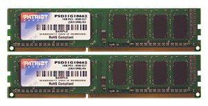 Модуль памяти PATRIOT PSD32G1066K DDR3 -  2x 1Гб 1066, DIMM,  Ret