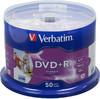 Оптический диск DVD+R VERBATIM 4.7Гб 16x, 50шт., cake box, printable [43512] вид 1