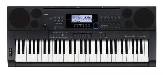 Синтезатор CASIO CTK-5000, 61, невзвешенная, полноразмерные, 48, черный