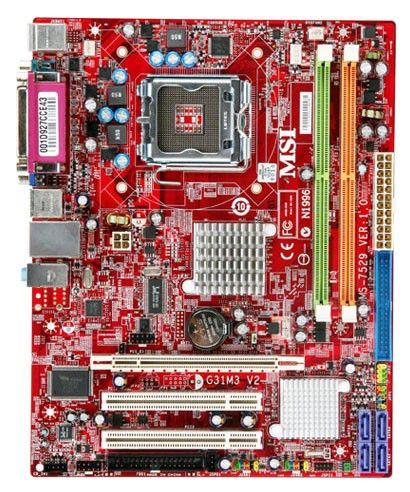Материнская плата MSI G31M3-L V2 LGA 775, mATX, Ret