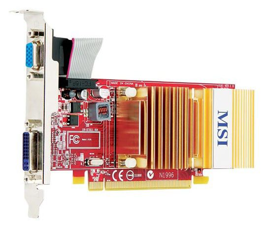 Видеокарта MSI R4350-MD512HD2,  512Мб, DDR2, Low Profile,  Ret