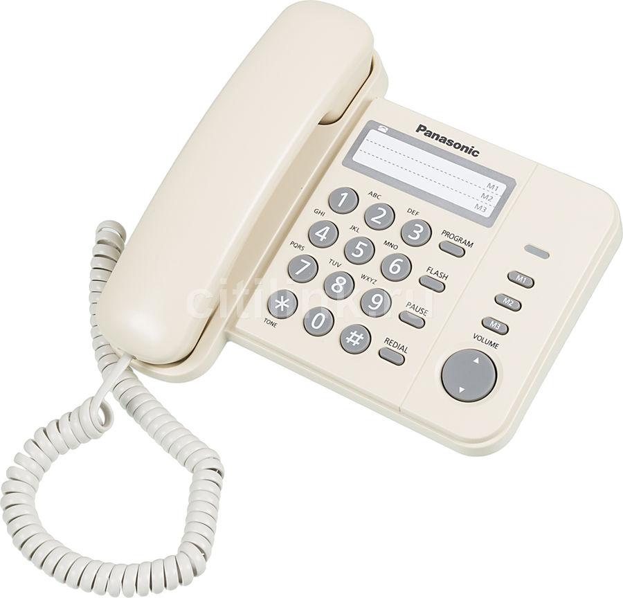 Проводной телефон PANASONIC KX-TS2352RUJ, бежевый