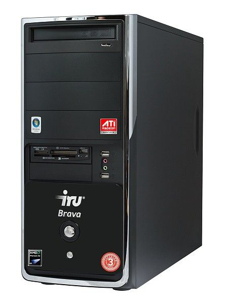 IRU Brava Home 114,  AMD  Phenom X3  8450,  DDR2 2Гб, 500Гб,  ATI Radeon HD 3850 - 512 Мб,  DVD-RW,  CR,  Windows Vista Home Premium,  черный
