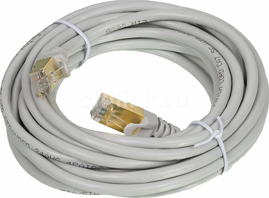 Патч-корд PC PET CAT5EGF-50 литой (molded), cat.5E, 5м, 26AWG,  1 шт
