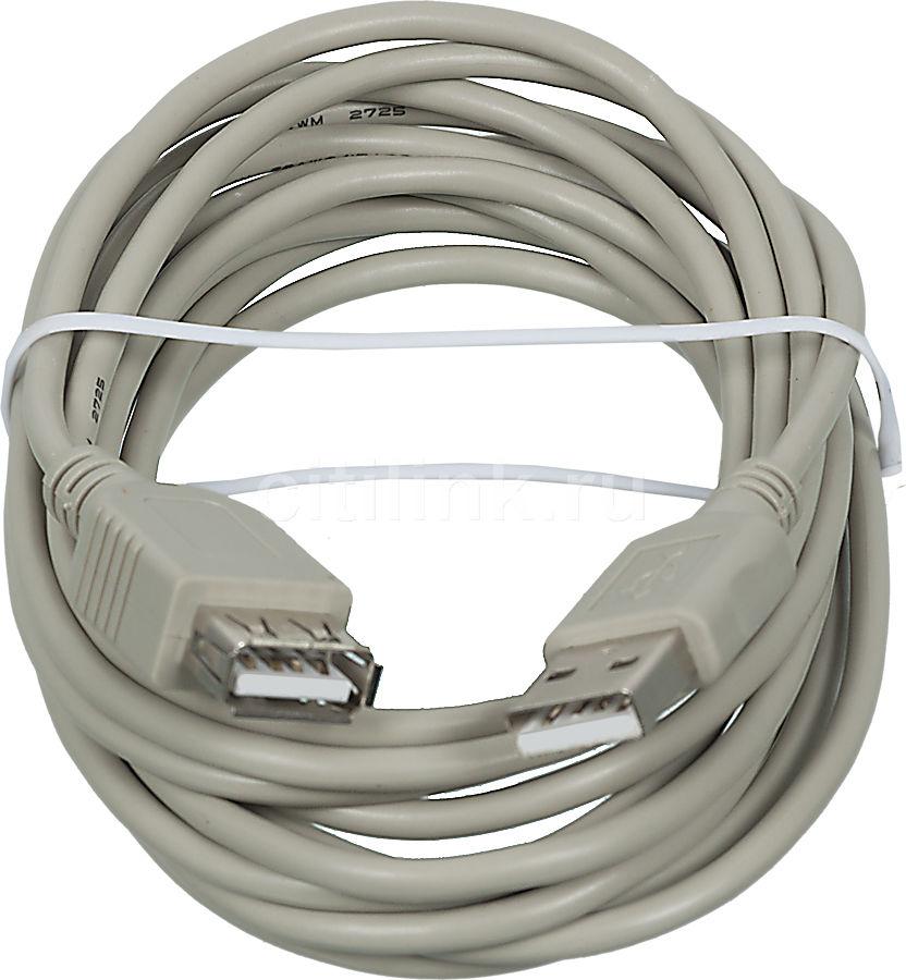 Кабель-удлинитель USB2.0 PC PET USB A(m) -  USB A(f),  3м,  блистер,  серый [usamaf0-30]