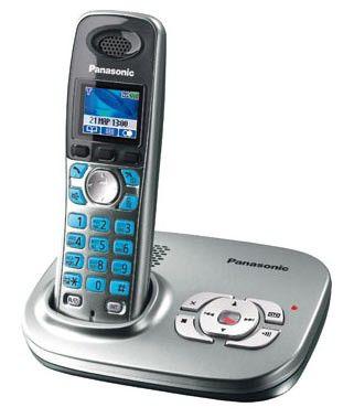 Радиотелефон PANASONIC KX-TG8021RUS,  серебристый металлик