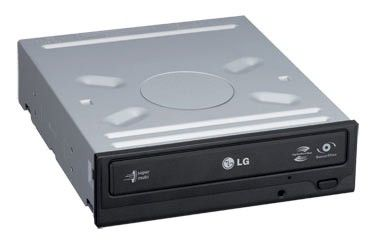 Оптический привод DVD-RW LG GH22NS30, внутренний, SATA, черный,  OEM