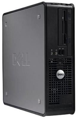 DELL Optiplex 760SF,  Intel  Core2 Duo  E7300,  DDR2 2Гб, 160Гб,  Intel GMA X4500,  DVD-RW,  Windows Vista Business,  черный
