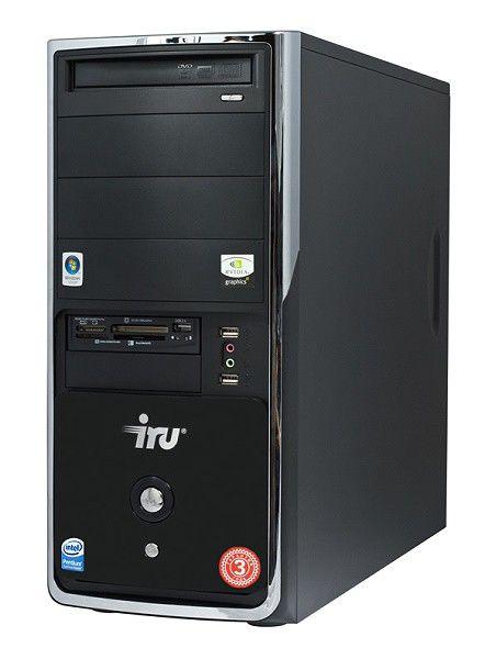 IRU Intro Home Plus,  Intel  Pentium Dual-Core  E5200,  DDR2 2Гб, 320Гб,  nVIDIA GeForce 8400 GS - 512 Мб,  DVD-RW,  CR,  Windows Vista Starter,  черный