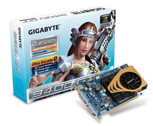 Видеокарта GIGABYTE GeForce 9400 GT,  1Гб, DDR2, Ret [gvn94togh]