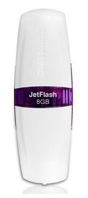 Флешка USB TRANSCEND Jetflash V20 8Гб, USB2.0, белый [ts8gjfv20]