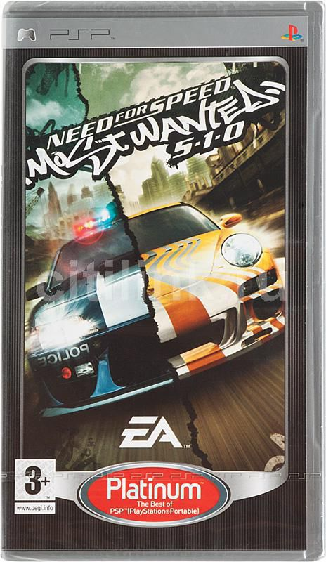 Игра  Need for Speed: Most Wanted 5-1-0 (Platinum) для  PSP Eng