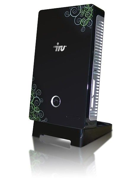 IRU Home Nettop 001,  Intel  Atom  230,  DDR2 2Гб, 320Гб,  Intel GMA 950,  DVD-RW,  CR,  Windows Vista Starter,  черный и аэрография
