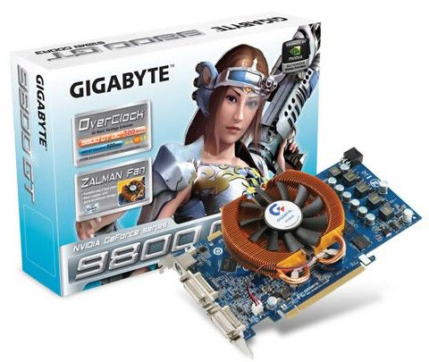 Видеокарта GIGABYTE GeForce 9800 GT,  512Мб, DDR3, oem [gv-n98toc-512h]