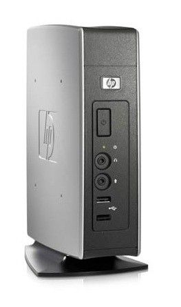 Тонкий клиент  HP t5630,  VIA  Eden  DDR2 1Гб, 1Гб(SSD),  VIA Chrome9 HC3,  Windows XP Embedded,  черный [fu257ea]