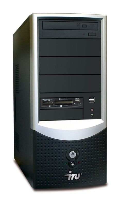 IRU Intro Home 123W,  Intel  Pentium Dual-Core  E5300,  DDR2 2Гб, 320Гб,  ATI Radeon HD 4350 - 512 Мб,  DVD-RW,  CR,  Windows Vista Home Basic,  черный