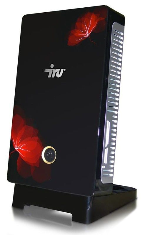 IRU Home Nettop 002,  Intel  Atom  230,  DDR2 2Гб, 320Гб,  Intel GMA 950,  DVD-RW,  CR,  Windows Vista Home Premium,  черный и красный