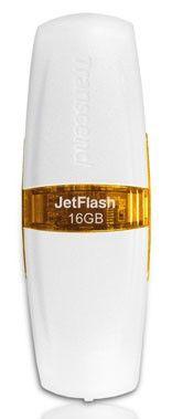Флешка USB TRANSCEND Jetflash V20 16Гб, USB2.0, белый и желтый [ts16gjfv20]