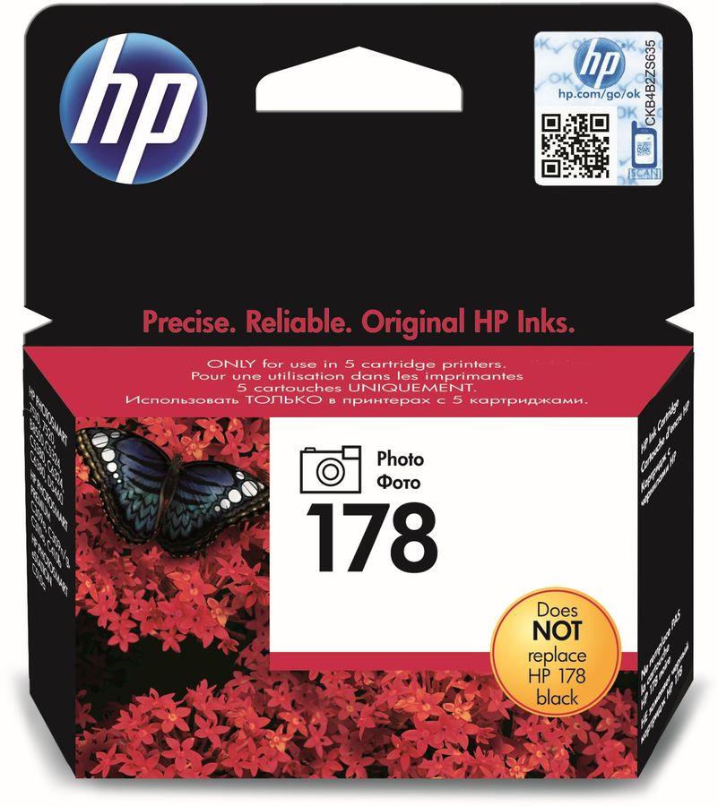 Картридж HP №178 CB317HE,  фото черный