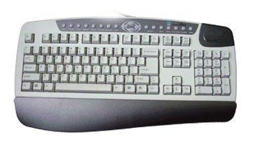 Клавиатура A4 KB-8,  PS/2, c подставкой для запястий, черный
