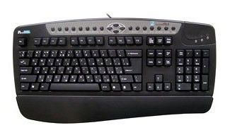 Клавиатура A4 KBS-8,  PS/2+USB, c подставкой для запястий, черный