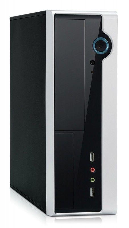 Корпус miniITX FOXCONN RS-233, 150Вт,  черный и серебристый