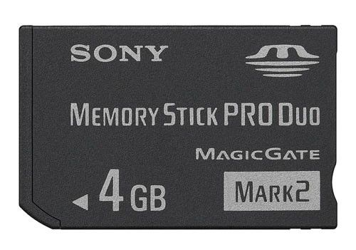 Карта памяти Memory Stick Pro Duo SONY Mark2 4 ГБ, MSMT4G-PSP,  1 шт.