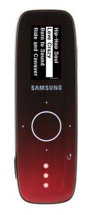 MP3 плеер SAMSUNG U4 flash 4Гб красный [yp-u4ar/xer]